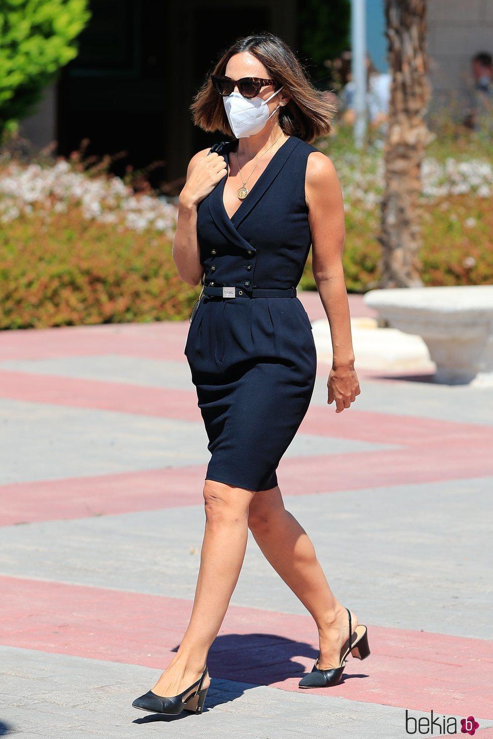 Tamara Falcó en el funeral de Jaime Carvajal, marido de su hermana Xandra Falcó