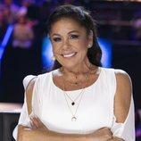 Isabel Pantoja, sonriente en el primer programa de 'Idol Kids'