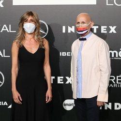 Begoña Gómez y Modesto Lomba en Madrid Fashion Week primavera/verano 2021