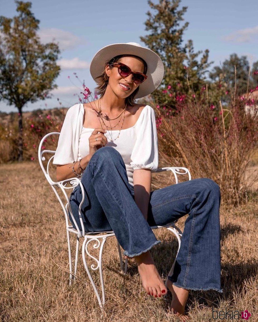 Sara Carbonero al aire libre disfrutando de los últimos días del verano 2020