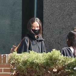 Victoria Federica en la puerta de su universidad