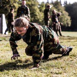 La Princesa Isabel de Bélgica en su primer entrenamiento militar