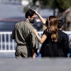 Blanca Suárez y Javier Rey, muy cómplices en el Festival de Cine de San Sebastián 2020