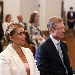 Los Grandes Duques de Luxemburgo en el bautizo de Carlos de Luxemburgo