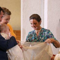 Gaëlle de Lannoy ejerce como madrina de Carlos de Luxemburgo en presencia de Guillermo y Stéphanie de Luxemburgo