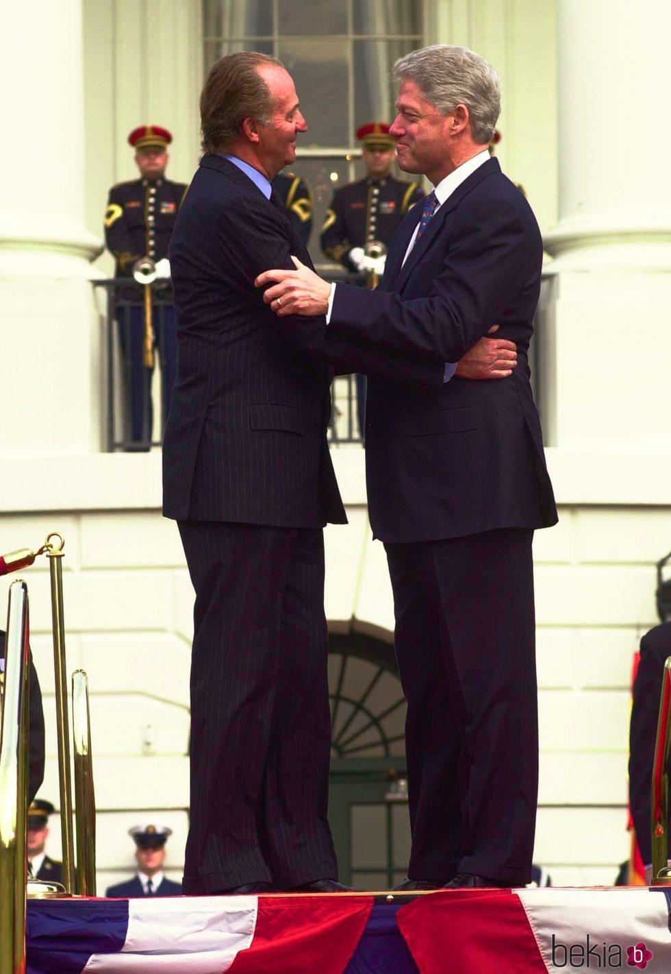 El Rey Juan Carlos y Bill Clinton en la Casa Blanca