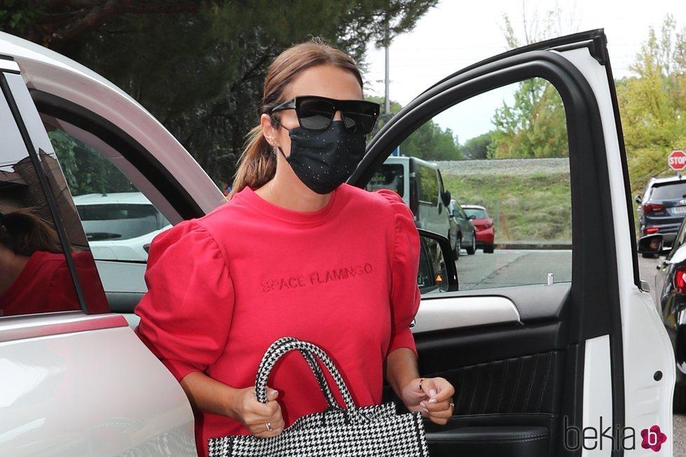 Paula Echevarría haciendo unos recados tras confirmar su segundo embarazo
