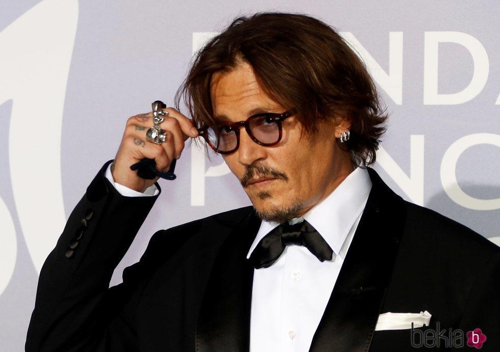 Johnny Depp en la gala para la Salud Planetaria de Montecarlo 2020