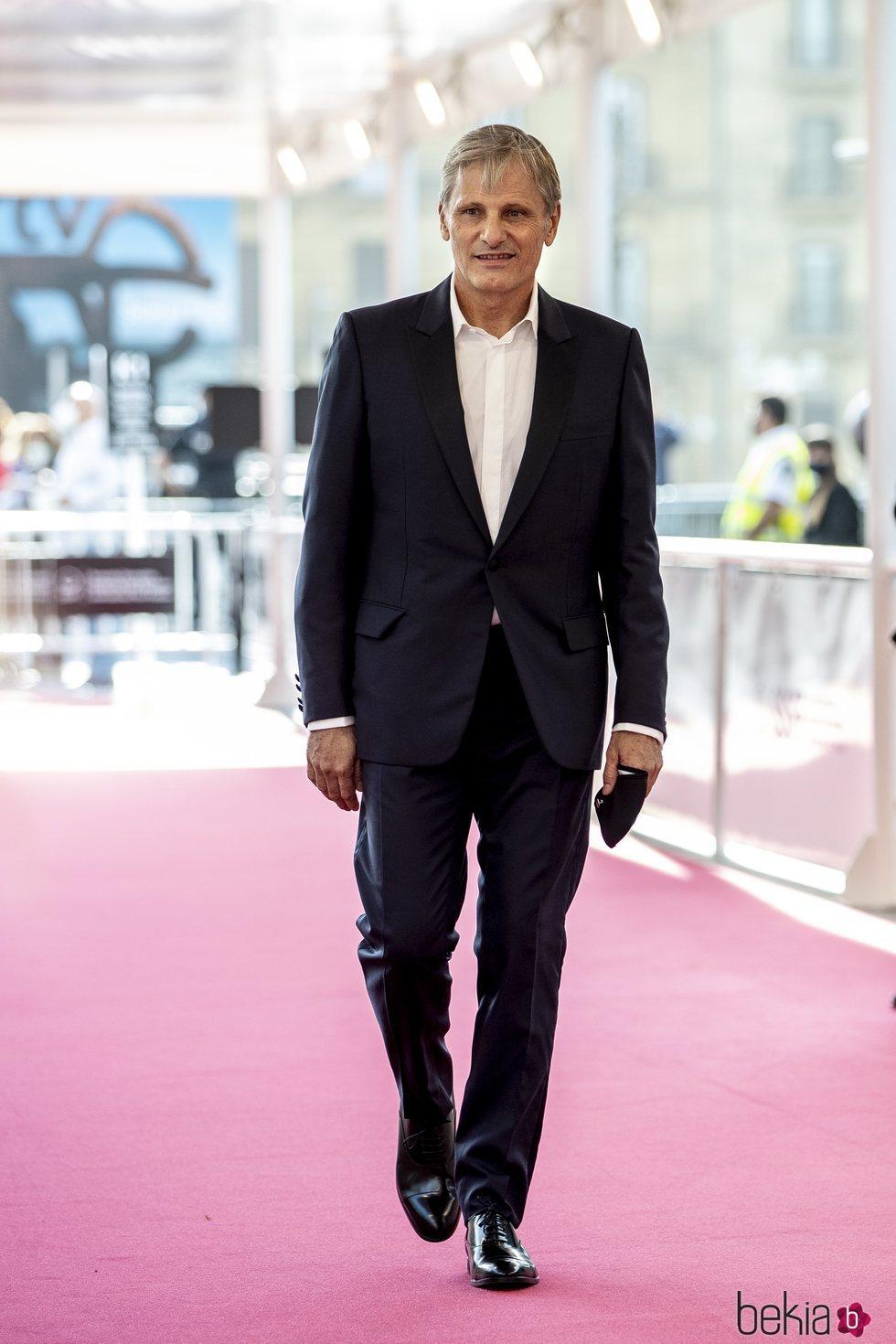 Viggo Mortensen en la alfombra roja del Festival de Cine de San Sebastián 2020