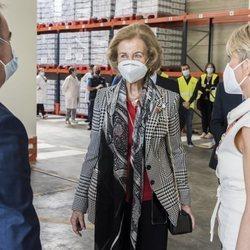 La Reina Sofía en un Banco de Alimentos de Albacete