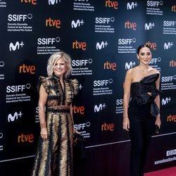 Eugenia Martínez de Irujo y Tamara Falcó en el Festival de Cine de San Sebastián 2020