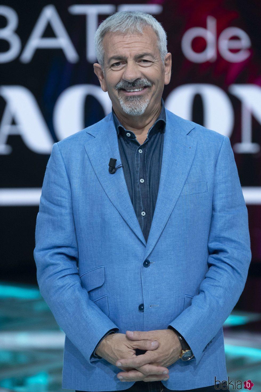 Carlos Sobera en el primer debate de 'La isla de las tentaciones 2'