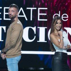 Rubén y Fani en el primer debate de 'La isla de las tentaciones 2'