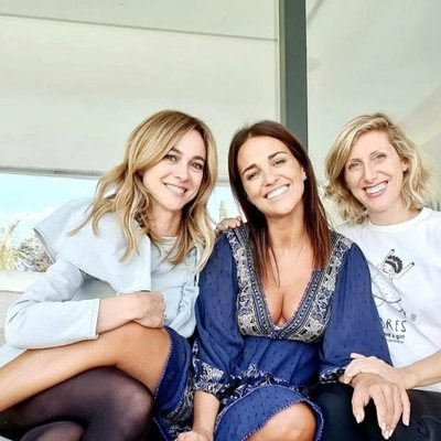 Marta Hazas y Cecilia Freire celebrando con Paula Echevarría su embarazo