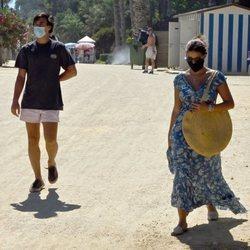 Tana Rivera  y su novio, Javi López, durante sus vacaciones en Marbella