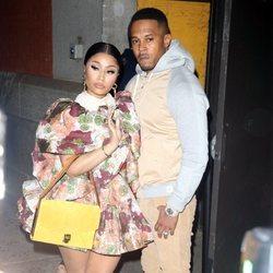 Nicki Minaj y Kenneth Petty en la Semana de la Moda de Nueva York