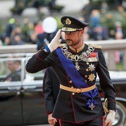 Haakon de Noruega en la Apertura del Parlamento como Príncipe Regente
