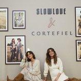 Sara Carbonero e Isabel Jiménez presentando la colección conjunta de Slow Love y Cortefiel