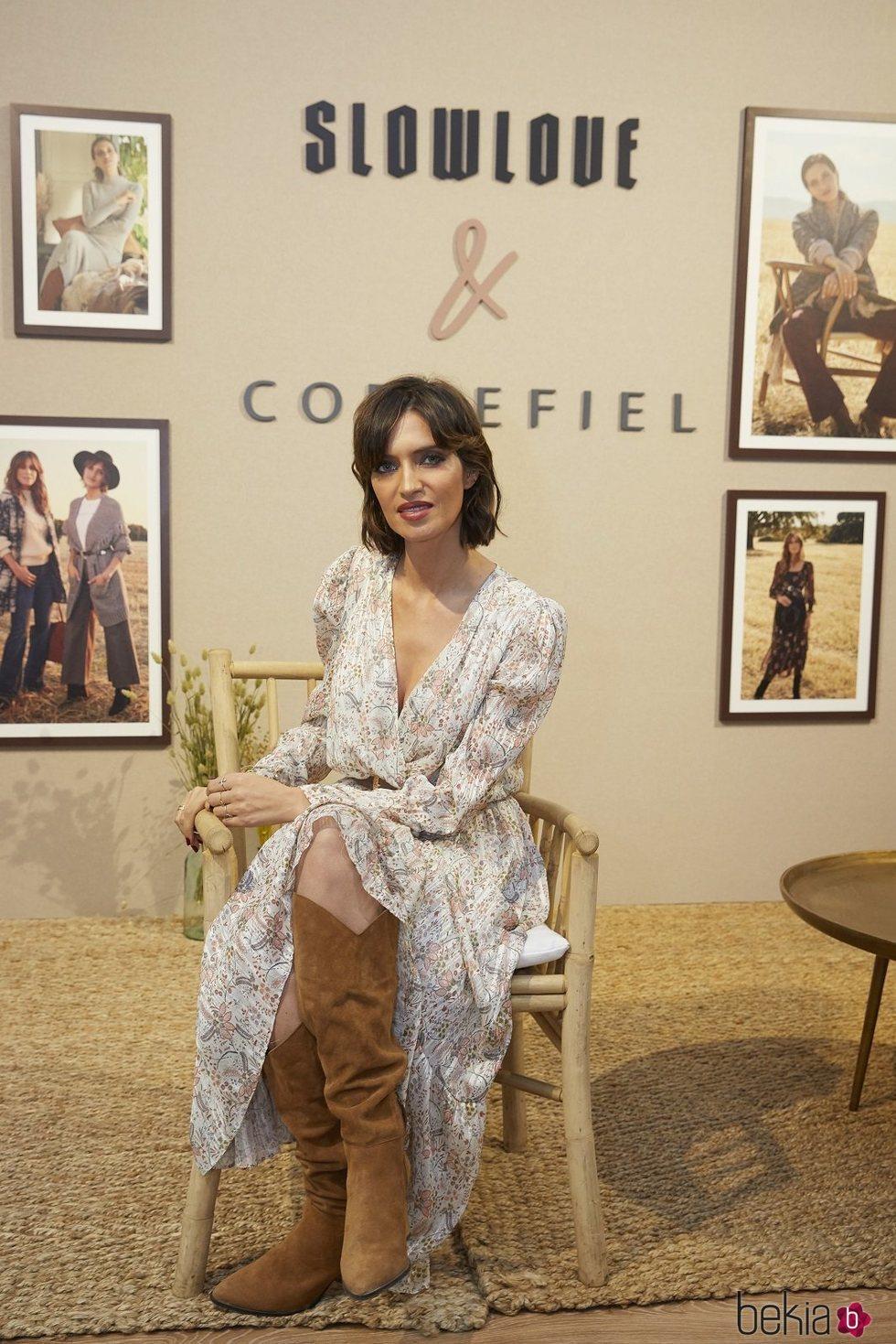 Sara Carbonero presentando la colección conjunta de Slow Love y Cortefiel