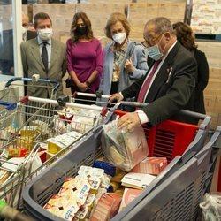 La Reina Sofía en el Banco de Alimentos de Ciudad Real