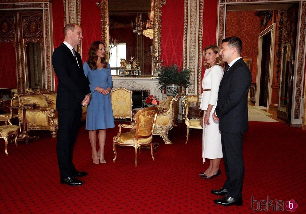 El Príncipe Guillermo y Kate Middleton reciben al Presidente de Ucrania y la Primera Dama en Buckingham Palace