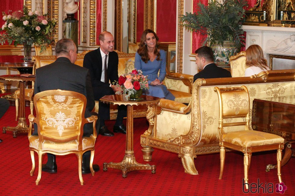 El Príncipe Guillermo y Kate Middleton con el Presidente de Ucrania y la Primera Dama en el Palacio de Buckingham