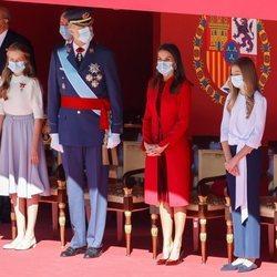 Los Reyes Felipe y Letizia, la Princesa Leonor y la Infanta Sofía en el Día de la Hispanidad 2020