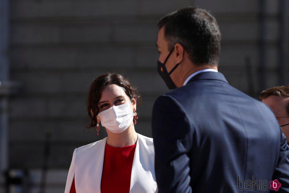 Pedro Sánchez e Isabel Díaz Ayuso en el Día de la Hispanidad 2020