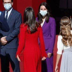 La Reina Letizia, Irene Montero y Alberto Garzón en el Día de la Hispanidad 2020