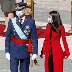 Los Reyes Felipe y Letizia en el Día de la Hispanidad 2020