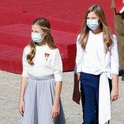 La Princesa Leonor y la Infanta Sofía en la celebración del Día de la Hispanidad 2020