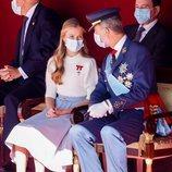 El Rey Felipe y la Princesa Leonor en el Día de la Hispanidad 2020