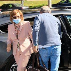 María Teresa Campos con José Carlos Bernal y la perrita Lula