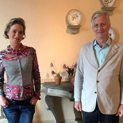 Felipe de Bélgica y su hermana Delphine Boël en su primer encuentro