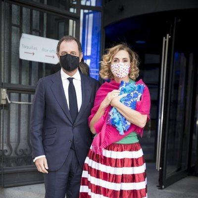 Ágatha Ruiz de la Prada y Luis Gasset en los Premios de Pintura BMW 2020