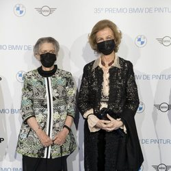 La Reina Sofía y la Princesa Irene de Grecia en los Premios de Pintura BMW 2020