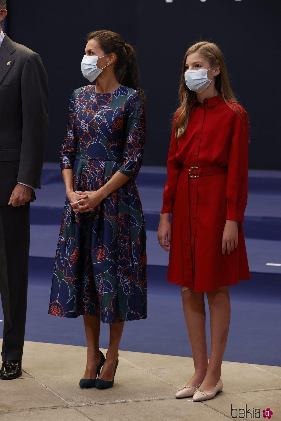 La Reina Letizia y la Infanta Sofía en la audiencia a los galardonados de los Premios Princesa de Asturias 2020