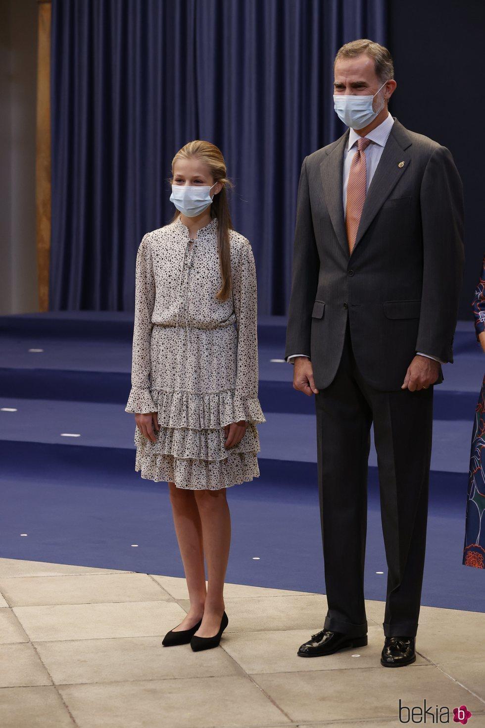 El Rey Felipe y la Princesa Leonor en la audiencia a los galardonados de los Premios Princesa de Asturias 2020