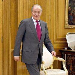 El Rey Juan Carlos en una audiencia en La Zarzuela
