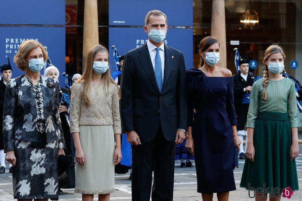 La Familia Real en los Premios Princesa de Asturias 2020