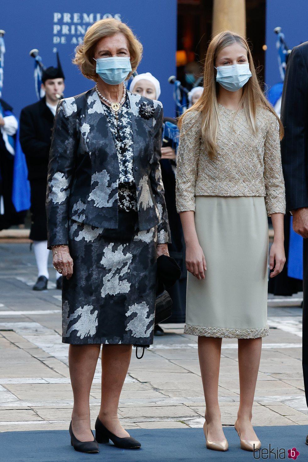 La Reina Sofía y la Princesa Leonor en los Premios Princesa de Asturias 2020