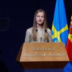La Princesa Leonor en su discurso en los Premios Princesa de Asturias 2020