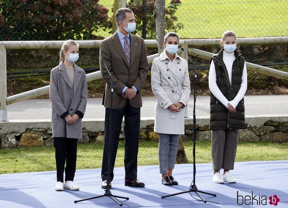 La Familia Real en Somao, Pueblo Ejemplar de Asturias 2020