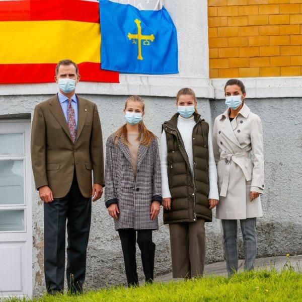 La Familia Real visita Somao, Pueblo Ejemplar de Asturias 2020