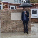 El Príncipe Guillermo en la construcción de un centro oncológico en el Royal Marsden Hospital de Sutton