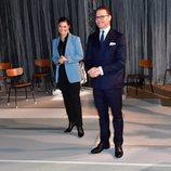 Victoria y Daniel de Suecia en su visita a Södermanland