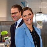 Victoria y Daniel de Suecia durante su visita al condado de Södermanland
