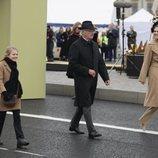 Carlos Gustavo de Suecia, Victoria de Suecia y Estela de Suecia en la inauguración del puente Slussbron en Estocolmo