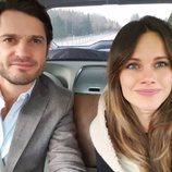 Carlos Felipe y Sofia de Suecia de camino a Värmland