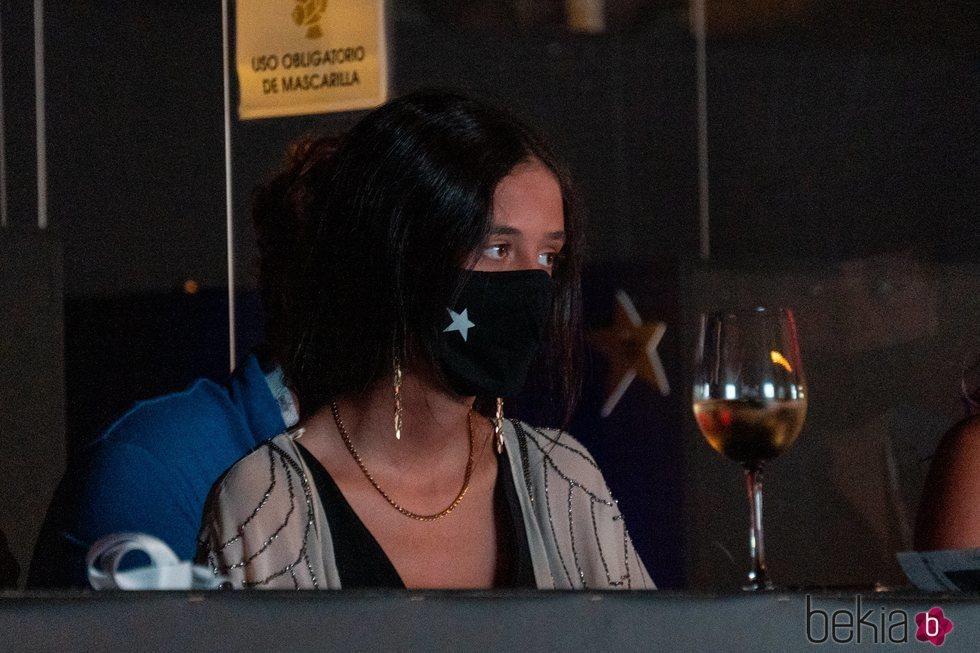 Victoria Federica con mascarilla en el Starlite Festival de Marbella